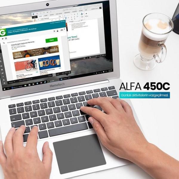 Alfa 450C notebook modelimiz ile işlerinizi ister evden ister ofisten kesintisiz sürdürün