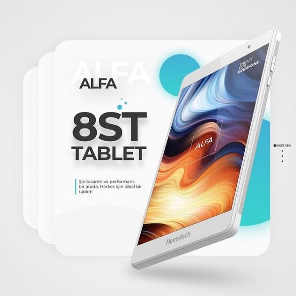 Alfa 8st tablet ile şık tasarım ve performans bir arada